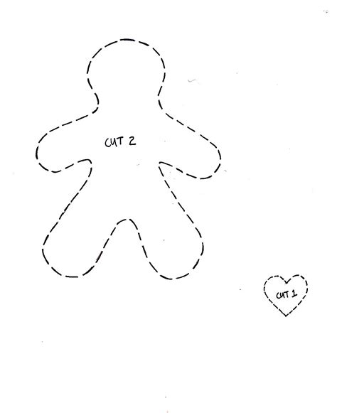 gingerbread decoration template cupcake cutie free felt ornament pattern
