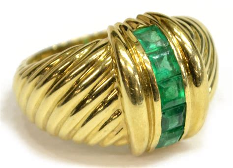 david yurman 14kt gold emerald ring the jo