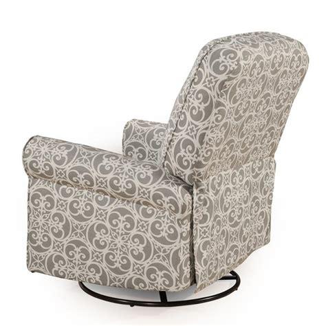ashewick swivel glider recliner pri ashewick fabric swivel glider recliner in gray ds