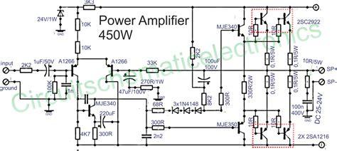 lifier circuit diagram gt circuits gt 450w audio power lifier circuit l20743
