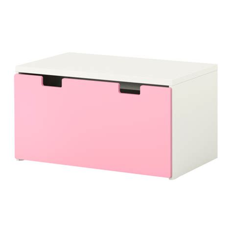 ikea kids storage bench stuva storage bench white pink ikea