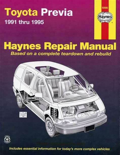 car engine manuals 1991 toyota previa electronic throttle control haynes toyota previa repair manual 1991 1995