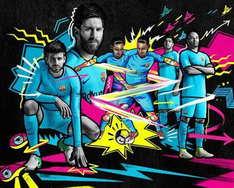 Barca Home New new barcelona away kit 2017 2018 blue fcb jersey 17 18