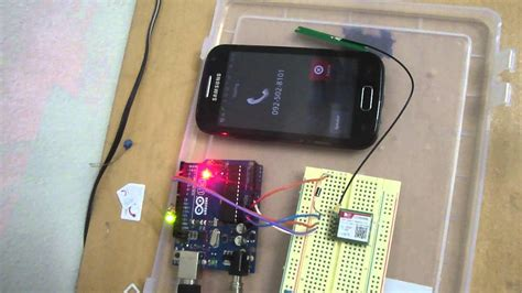 controlling  led  arduino connected  gsm sim