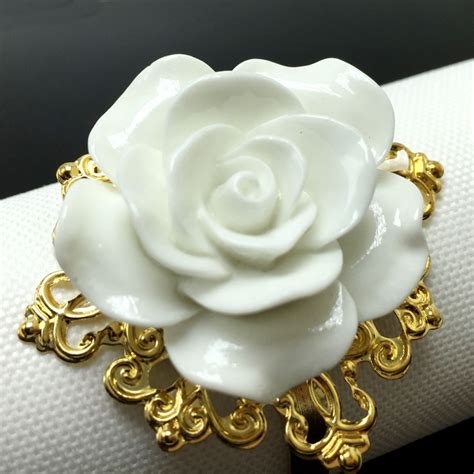 buy wholesale flower napkin rings from china flower