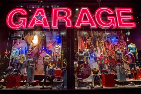 Garage Clothing Store by Window