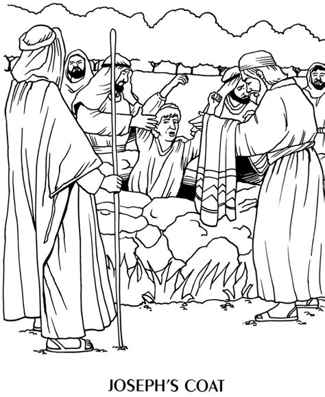 Joseph And His Brothers Coloring Page free joseph his coat coloring pages