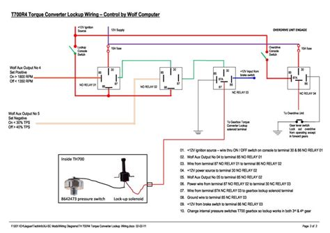wiring diagram for 700r4 lock up get free image about
