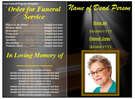 9 Funeral Program Template Free Word Pdf Doc Psd Formats Funeral Program Template Docs