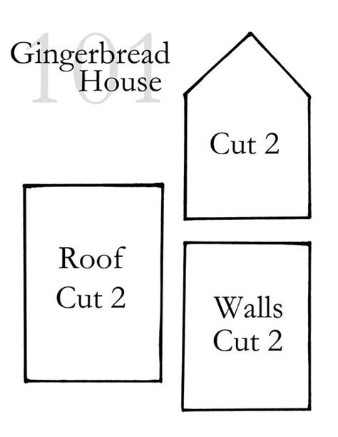 63 best Gingerbread house printable - template images on