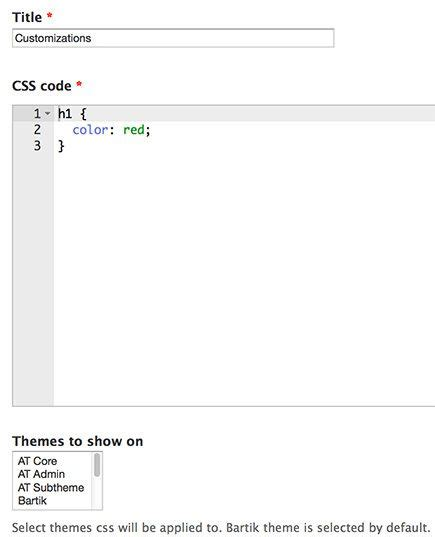 drupal theme add css add custom css to your drupal 7 site