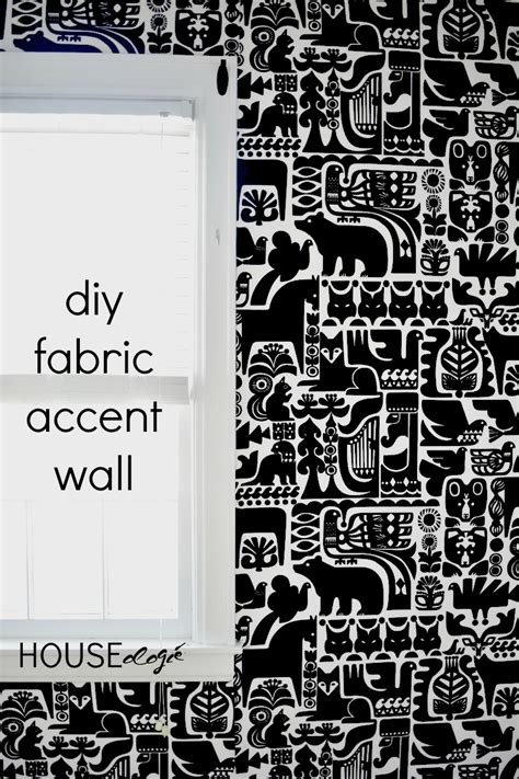 fabric accent wall houseologie