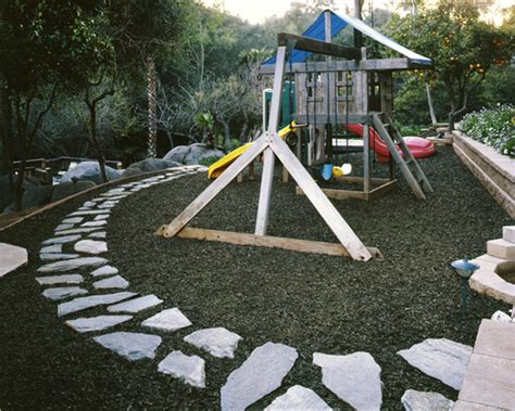 backyard playground mulch playground mulch from old tires the stones look a little