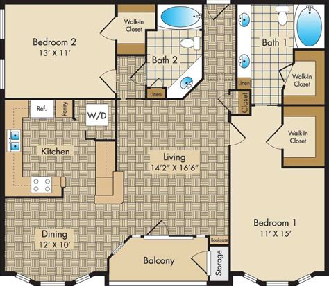 Liberty Place Floor Plans by Plan F The Liberty Place Apartments