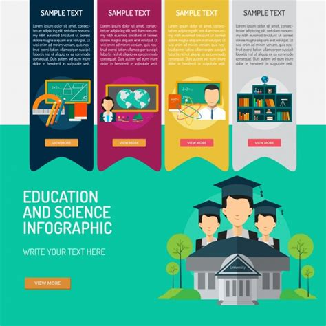 Free Educational Templates by Education Infographic Template Vector Free