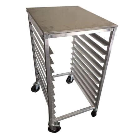 sauber half size aluminum sheet pan rack with aluminum