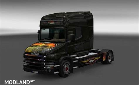 Kaos Jet Truck Scania scania t flying eye skin mod for ets 2