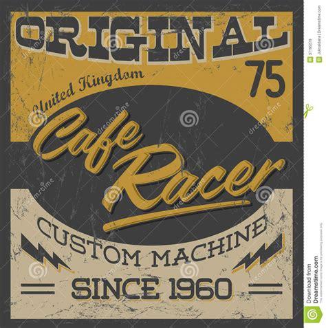 24 X 24 Garage Plans cafe racer vintage motorcycle design stock image image