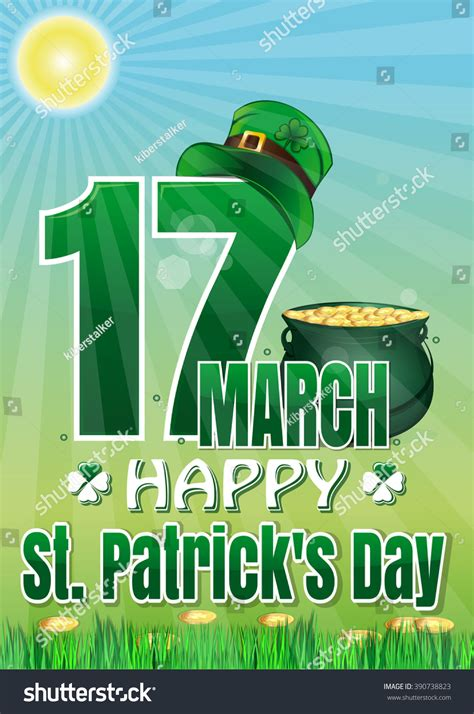 Dijamin Clear St Banner Happy happy st patricks day march 17 stock vector 390738823