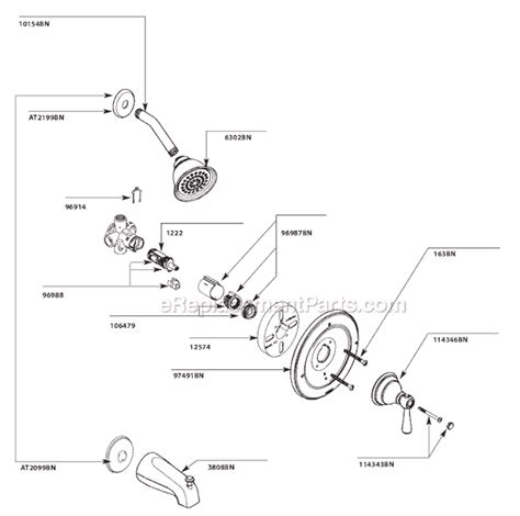 Moen Shower Replacement Parts by Moen T2112bn Parts List And Diagram Ereplacementparts
