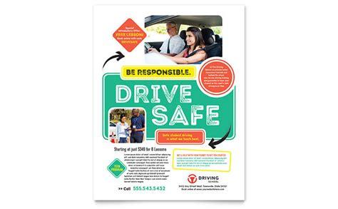 brochure templates drive driving school flyer template design