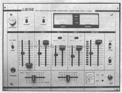Mixer Elektronik vintage liese studio mischpult numark dm 1300 stereo pre