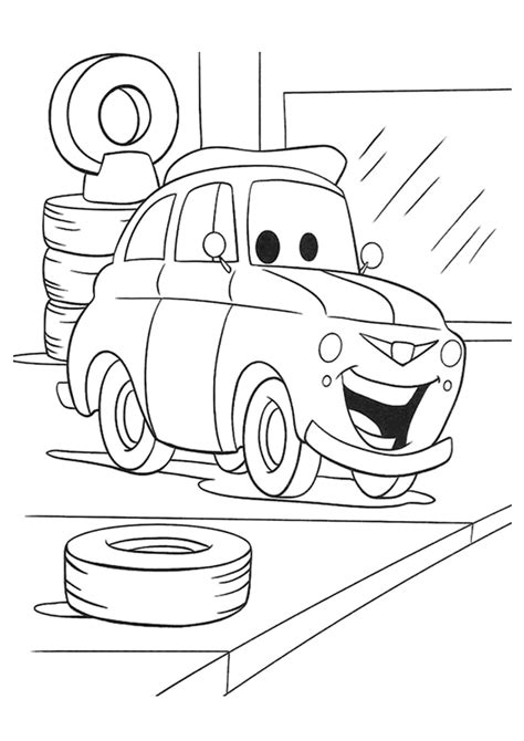coloring pictures of cars 2 the movie print out cars 2 movie luigi coloring page free