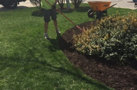 mulch bed edger mulch services for residential commercial properties
