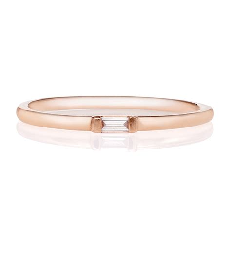 Julia Failey Rose Gold Baguette Diamond Ring