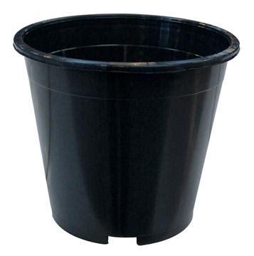 Black Plant Pots 10 Litre Black Plastic Plant Pot