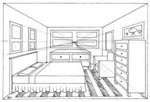 one point perspective bedroom drawing cdxnd home