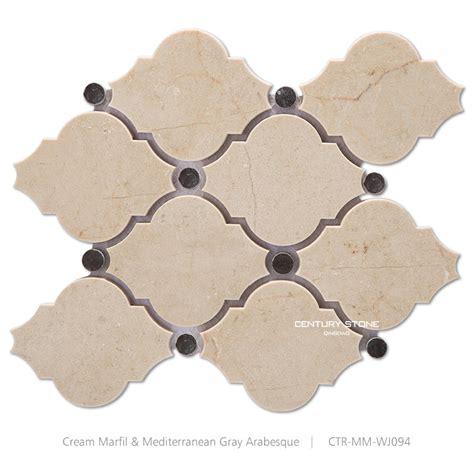 Where To Buy Kitchen Backsplash Tile by Beige Cream Marfil Polished Arabesque Lantern Marble