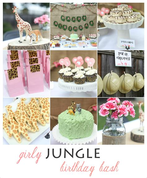themes in the book where she went girly jungle birthday bash