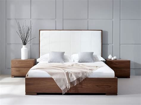 headboards nyc bella natural walnut faux leather headboard furni