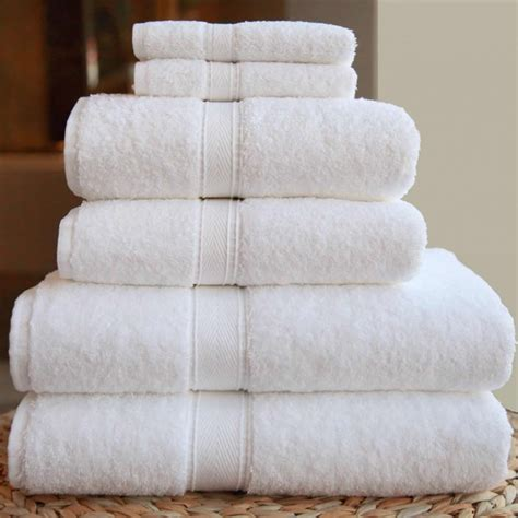 Home Design Decor Shopping Review by Linum Towels Six Piece Combination Set White Terry