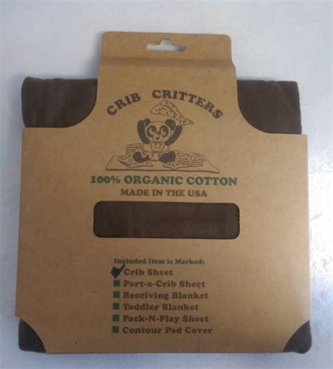 Crib Critters by Crib Critters Organic Knit Crib Sheet Brown N Cribs