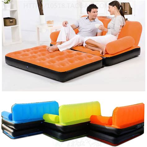 inflatable pull  sofa couch full double air bed