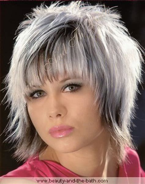 gray shag haircuts gray hairstyles for women