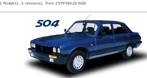 peugeot nigeria want a brand new peugeot 504 head to nigeria