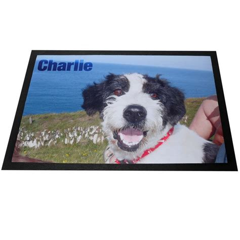 mats on dogs pet mats personalised with photos and text on mat for cats