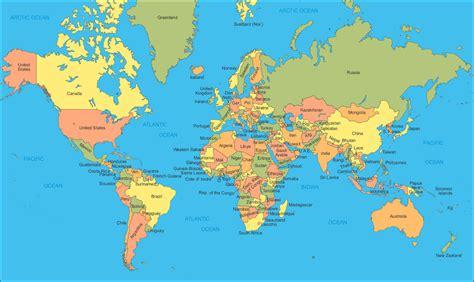 Political Map Of World by World Political Map Mapsof Net