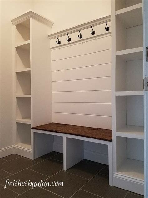 mudroom bench beautiful mudroom bench with shiplap back and dual side