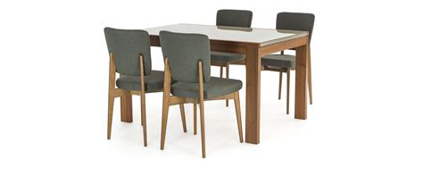 smart dining table vero smart dining table walnut cappucino glass 4