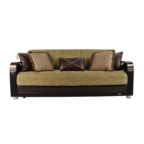 sleeper sofa with 71 off bellona bellona luna gold and brown sofa sleeper