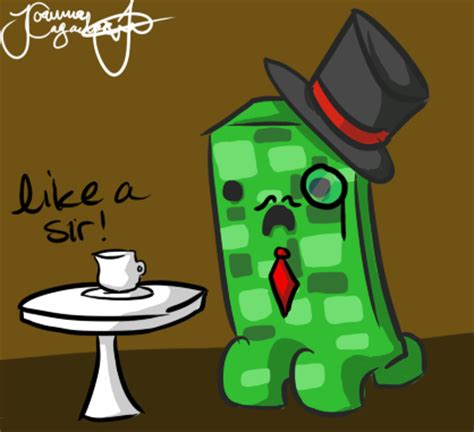 acadamy how to draw micraft things and random thing minecraft drawing sir creeper by jojoful7 on deviantart