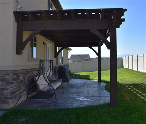 easy 12 x 24 11 quot diy attached pergola kit w fullwrap