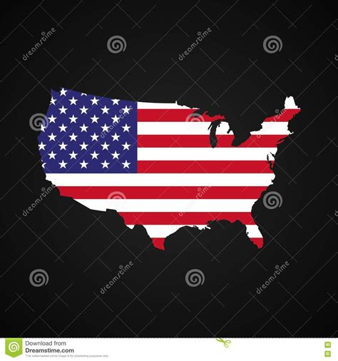 usa map silhouette flag and map of united states of america royalty free