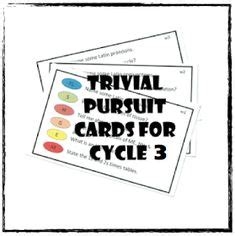 trivial pursuit card template word 1000 images about classical conversations cycle 3 on