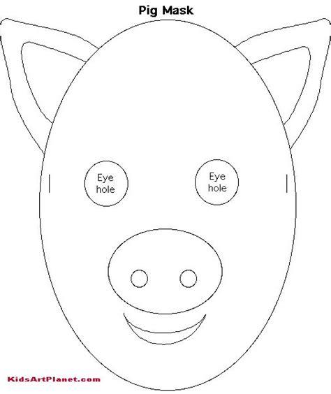 printable pig mask template pig mask paper pig mask event ideas pinterest pig