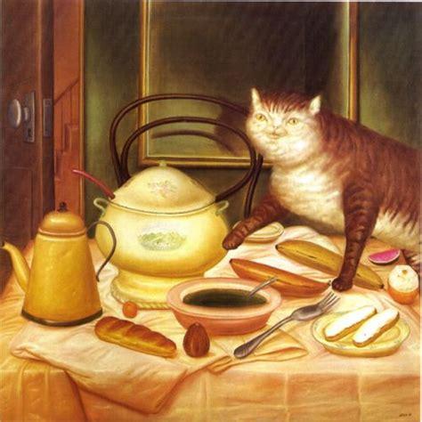cuadro botero cuadro de botero el gato gloton cuadrosguapos